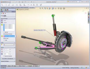 SolidWorks Simulation interfejs