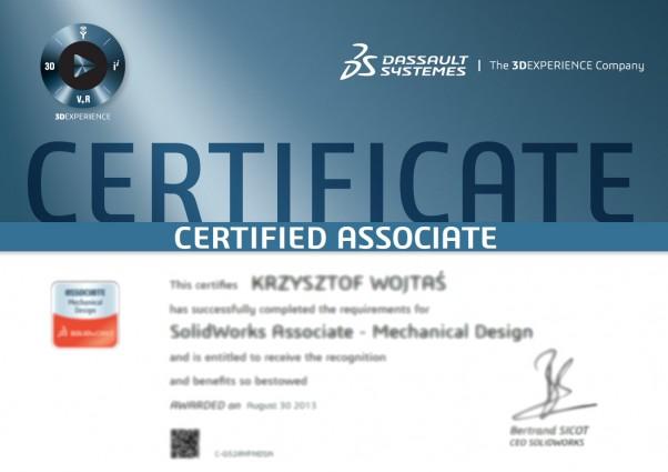 Certyfikaty SolidWorks, CSWA - Certified SolidWorsk Associate