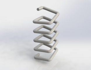 Kwadratowa sprężyna w SolidWorks