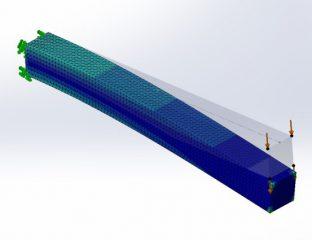Wpływ jakości elementów na zbieżność wyników w SolidWorks Simulation