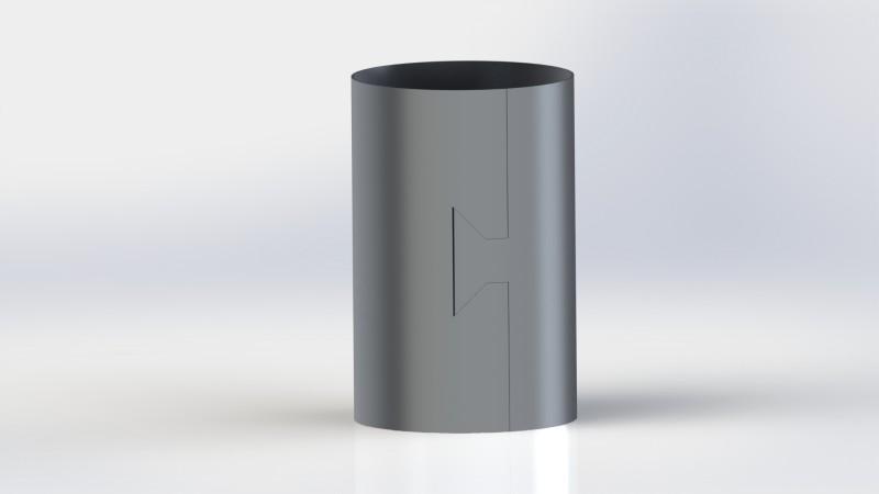 Arkusz blach - Wycinanie dowolnego kształtu na zaokrąglonej bryle