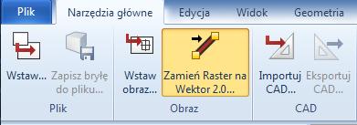 przycisk raster to vector