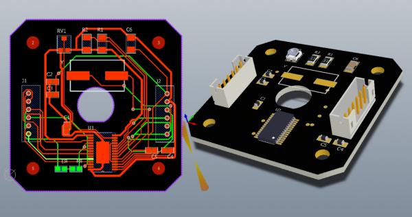 PCB layout 2D 3D