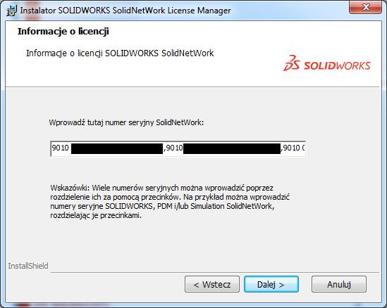 klucz licencji solidworks pdm