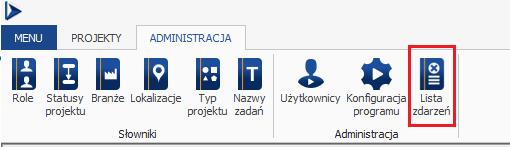 pmdesk lista zdarzeń