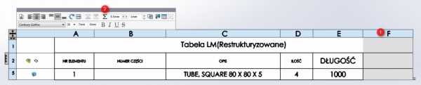Tabela LM