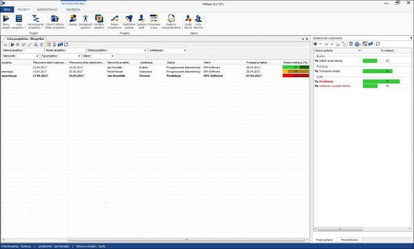 Statusy projektów pmdesk