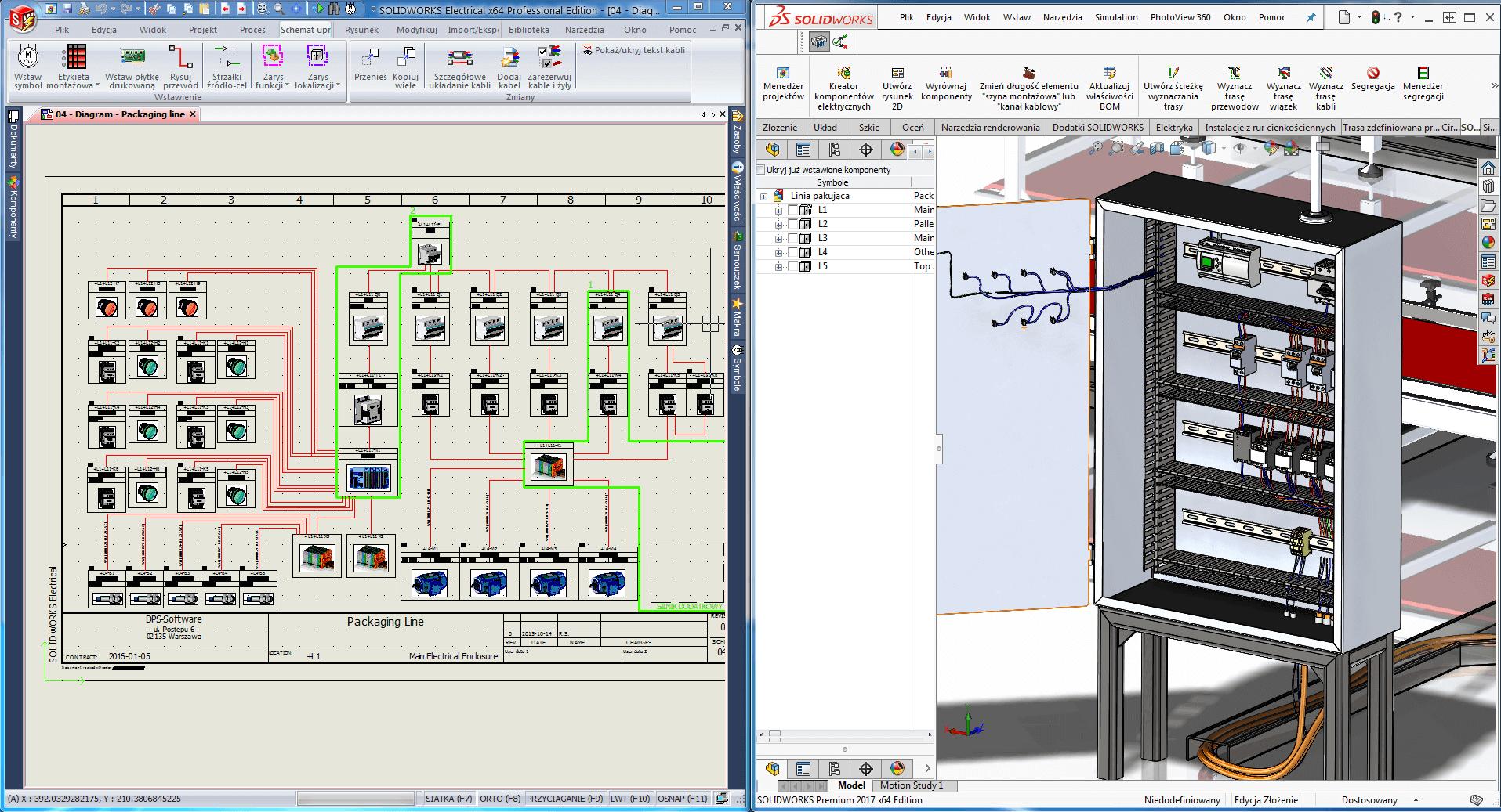 solidworks automatyka szafa elektryczna program