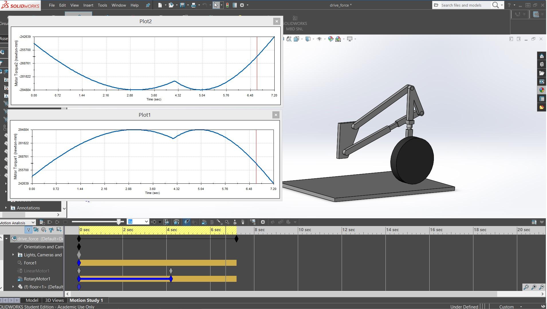 solidworks motion symulacja kinematyka