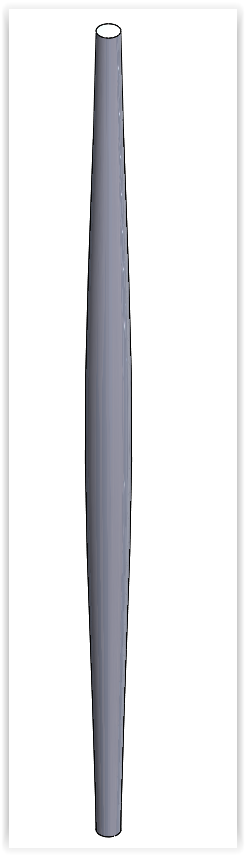 zwężony model solidworks