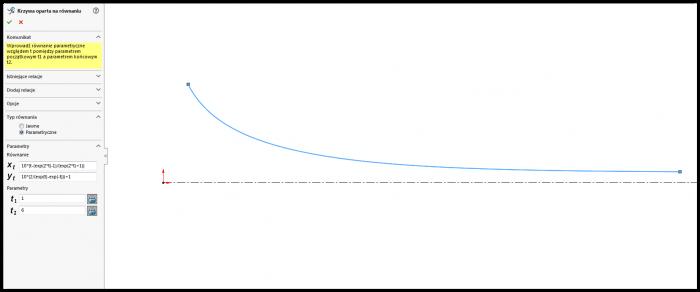 równanie parametryczne solidworks