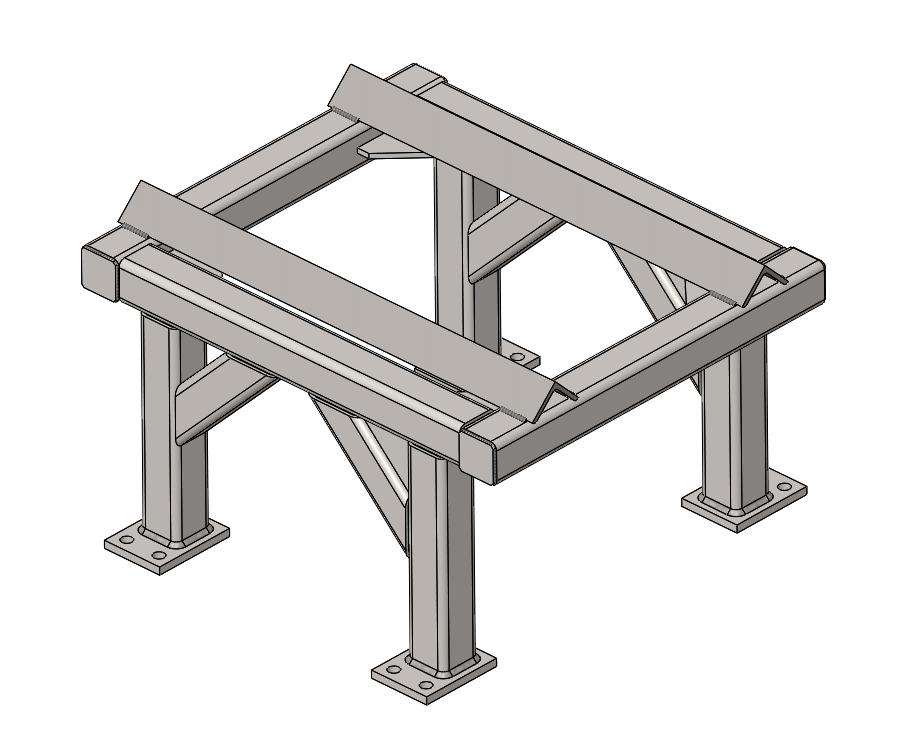 rama solidworks konstrukcja spawana