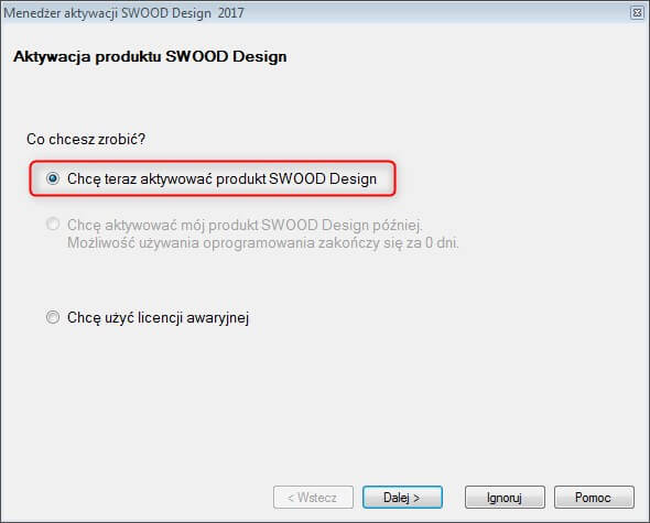 aktywacja produktu solidworks swood design