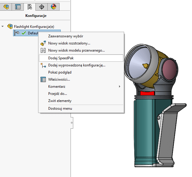 solidworks dodaj speedpak