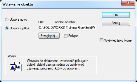 pdf solidworks wstaw obiekt
