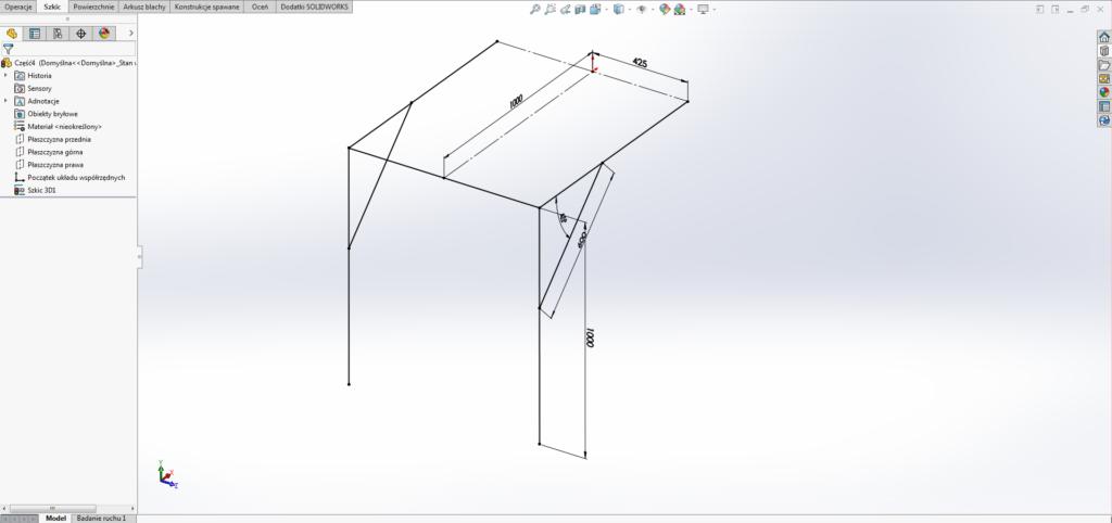 tworzenie szkicu 3d w solidworks