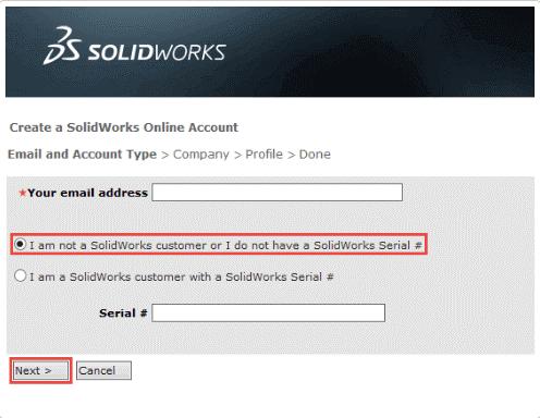 solidworks mysolidworks logowanie zakładanie konta konto