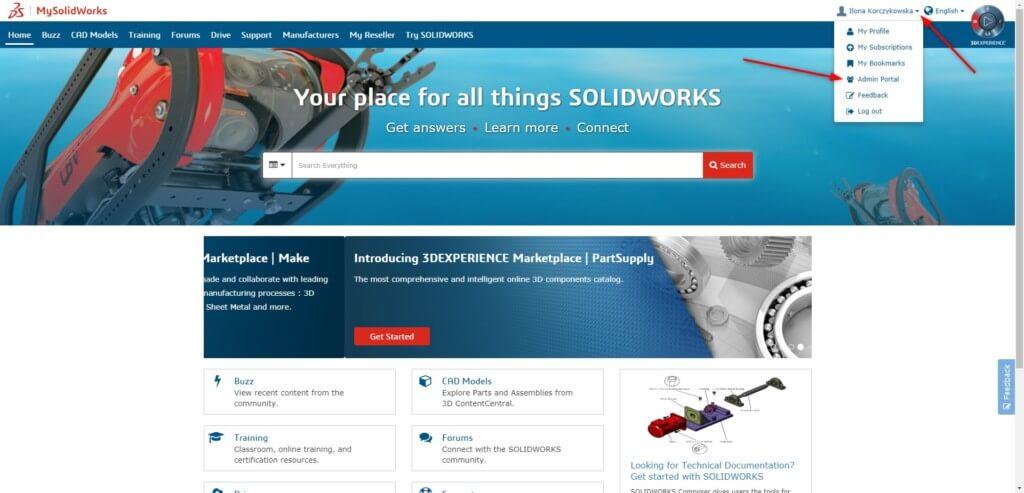 logowanie mysolidworks my solidworks