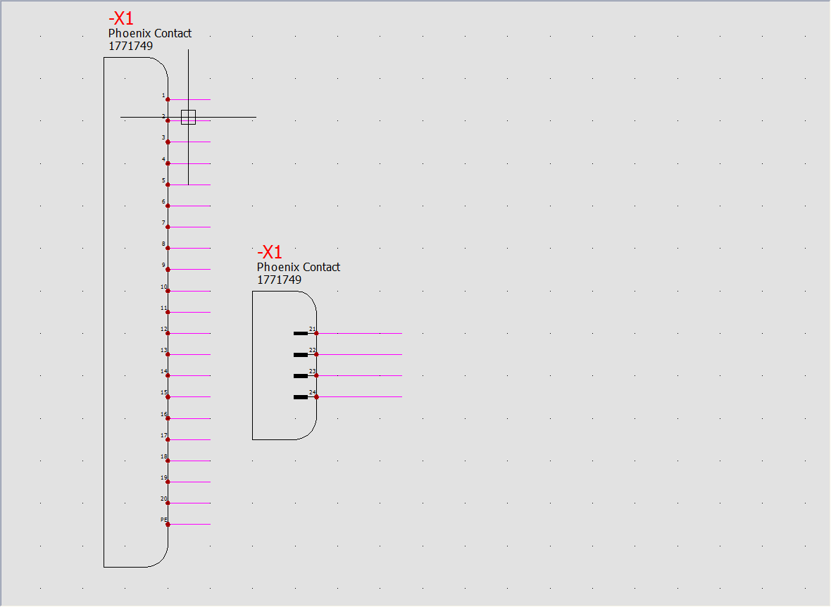 wstawianie pinów solidworks electrical