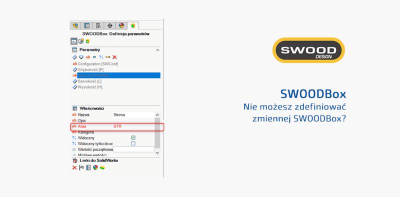 Nie możesz zdefiniować zmiennej SWOODBox