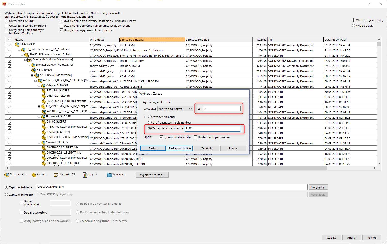 aktualizacja odniesień podczas-kopiowania solidworks swood 2
