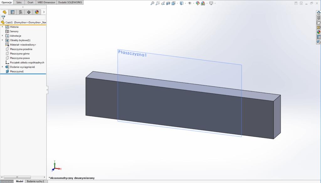płaszczyzna odniesienie solidworks geometria