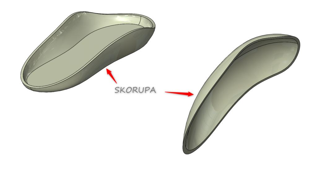 Wygląd górnej i dolnej część po zastosowaniu operacji skorupa