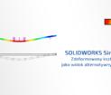 Zdeformowany kształtmodelujako widok alternatywny w rysunku solidworks simulation