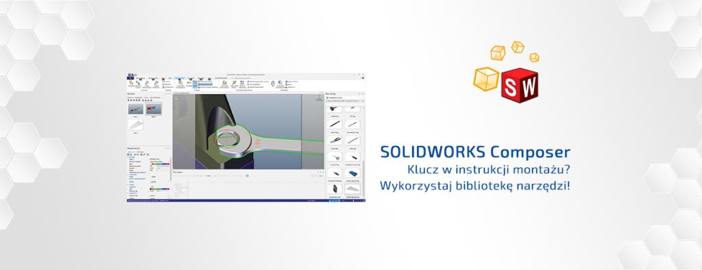 Klucz w instrukcji montażu Wykorzystaj bibliotekę narzędzi solidworks composer