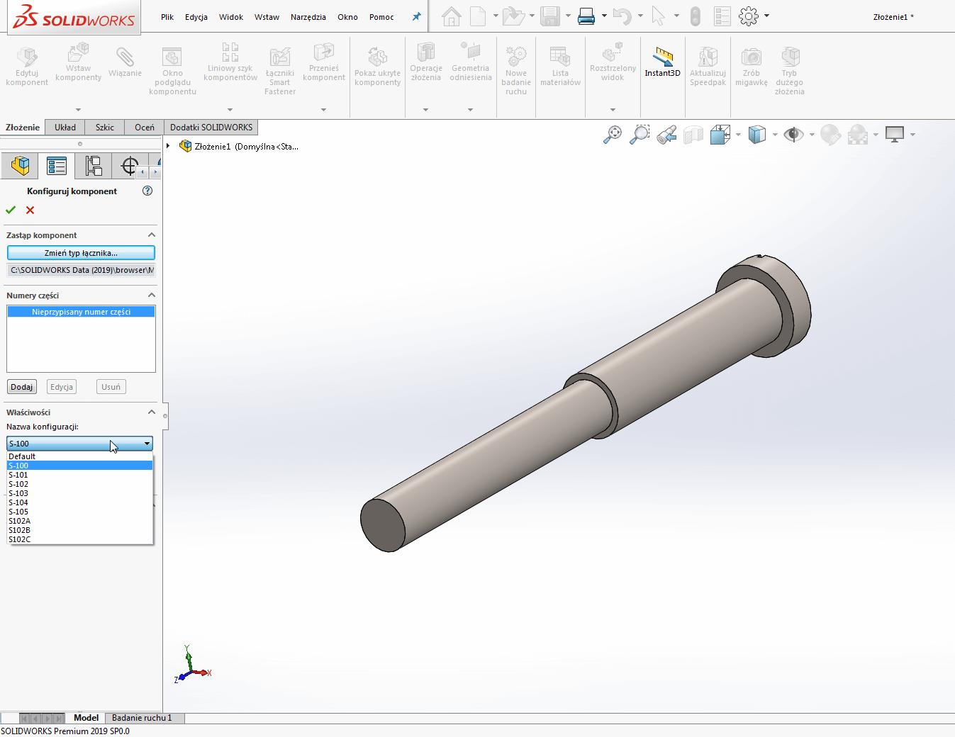 przeciąganie komponentów solidworks toolbox