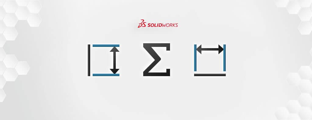 Powiązanie wymiarów w SOLIDWORKS - zmienne globalne i równania