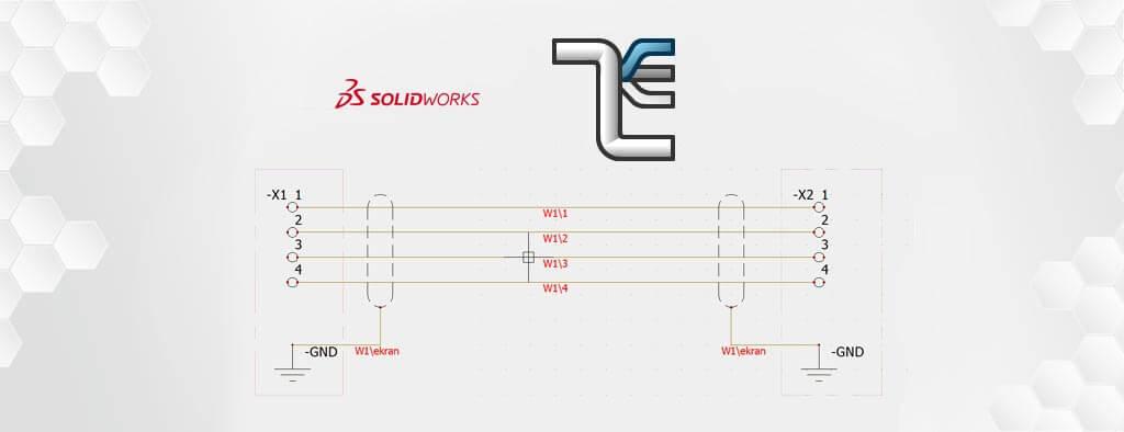Kable i przewody ekranowane w SOLIDWORKS Electrical