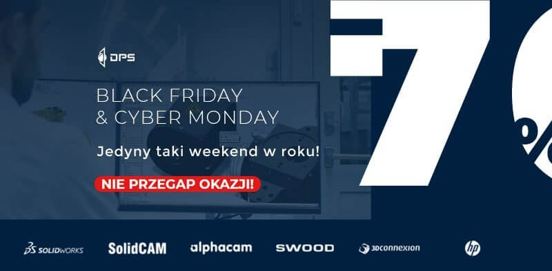 Promocja SOLIDWORKS Black Friday Cyber Monday DPS Software