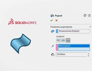 Jak pogrubić powierzchnię w SOLIDWORKS