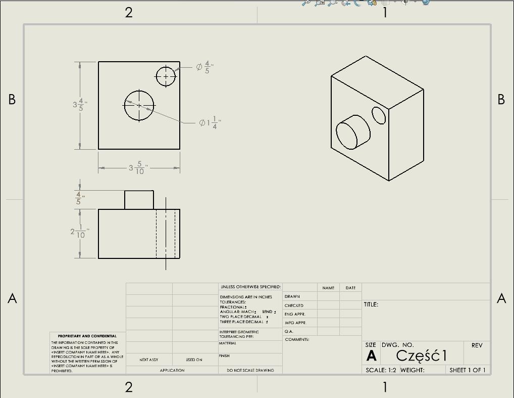 Jak wyświetlić ułamki w dokumentacji 2D - SOLIDWORKS - DPSTODAY - DPS Software