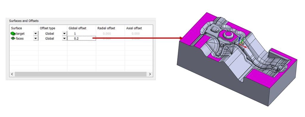 Nowości SOLIDCAM 2020 - Turbo 3D HSR – Odsunięcie na Wielu Powierzchniach
