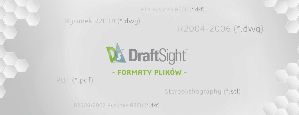 Formaty plików DraftSight - dwg dxf - zapisz jako - eksportuj do - DPSTODAY - DPS Software
