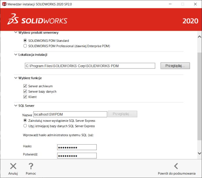 Instrukcja - instalacja komponentów serwera solidworks pdm standard- dps software