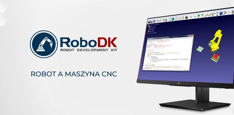 RoboDK robot a maszyna cnc