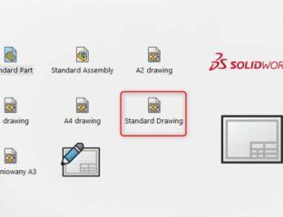Format arkusza i szablon rysunku w SOLIDWORKS