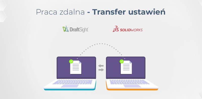Praca zdalna - transfer ustawień SOLIDWORKS i DraftSight
