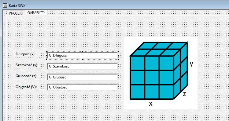 Wymiary gabarytowe elementu na karcie danych PDM - DPS Software - DPSTODAY - SOLIDWORKS