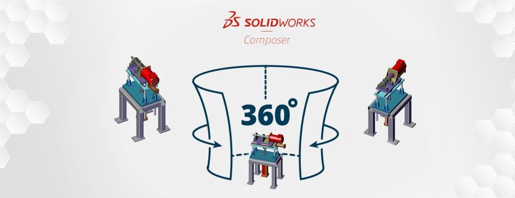 Przechwytywanie obrazu 360 w SOLIDWORKS Composer | DPSTODAY - Blog Techniczny SOLIDWORKS