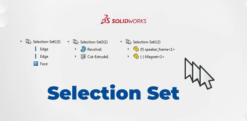 SOLIDWORKS Selection Set - zestawy wybranych elementów - DPSTODAY - DPS Software