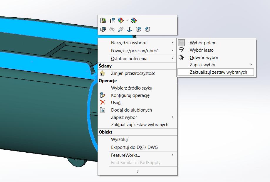 Jak stworzyć zestaw wybranych elementów ( SOLIDWORKSSelection Set) - DPSTODAY - DPS Software