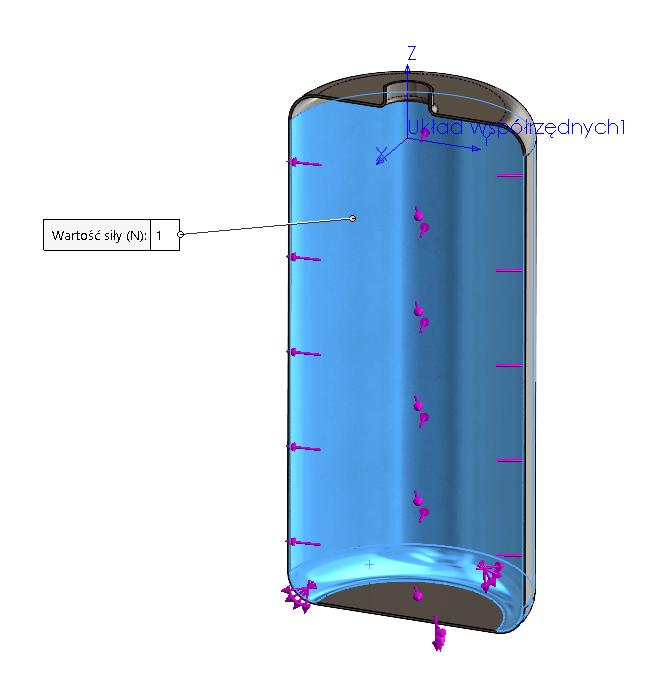 W jaki sposób zdefiniować ciśnienie hydrostatyczne w badaniu statycznym? SOLIDWORKS Simulation - DPS Software