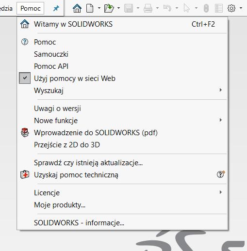 Aktualizacja interfejsu SOLIDWORKS 2020 SP3