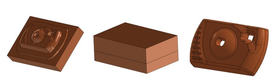 Przeciecie - wykonanie modelu formy