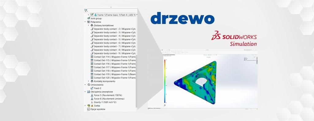 SOLIDWORKS Simulation 2019 vs. 2020 - zwijanie drzewa folderów w analizie