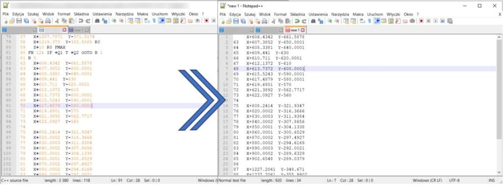 Import punktów z programu maszynowego CAM do programu CAD – w programach DraftSight i SOLIDWORKS